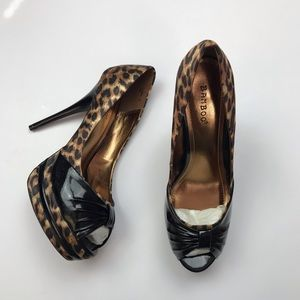 BAMBOO Shoes - Bamboo leopard heels